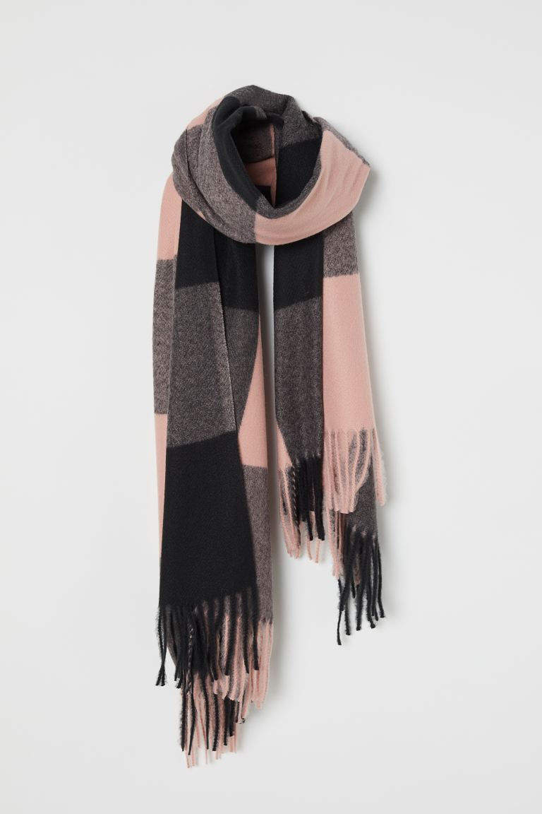 Scarf - Black/Light pink - Ladies | H&M GB