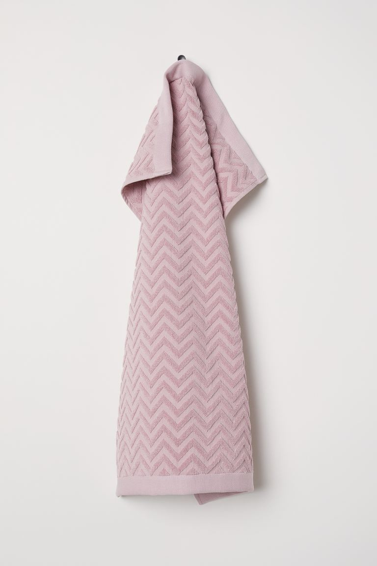 Serviette à motif jacquard - Rose clair - Home All | H&M FR