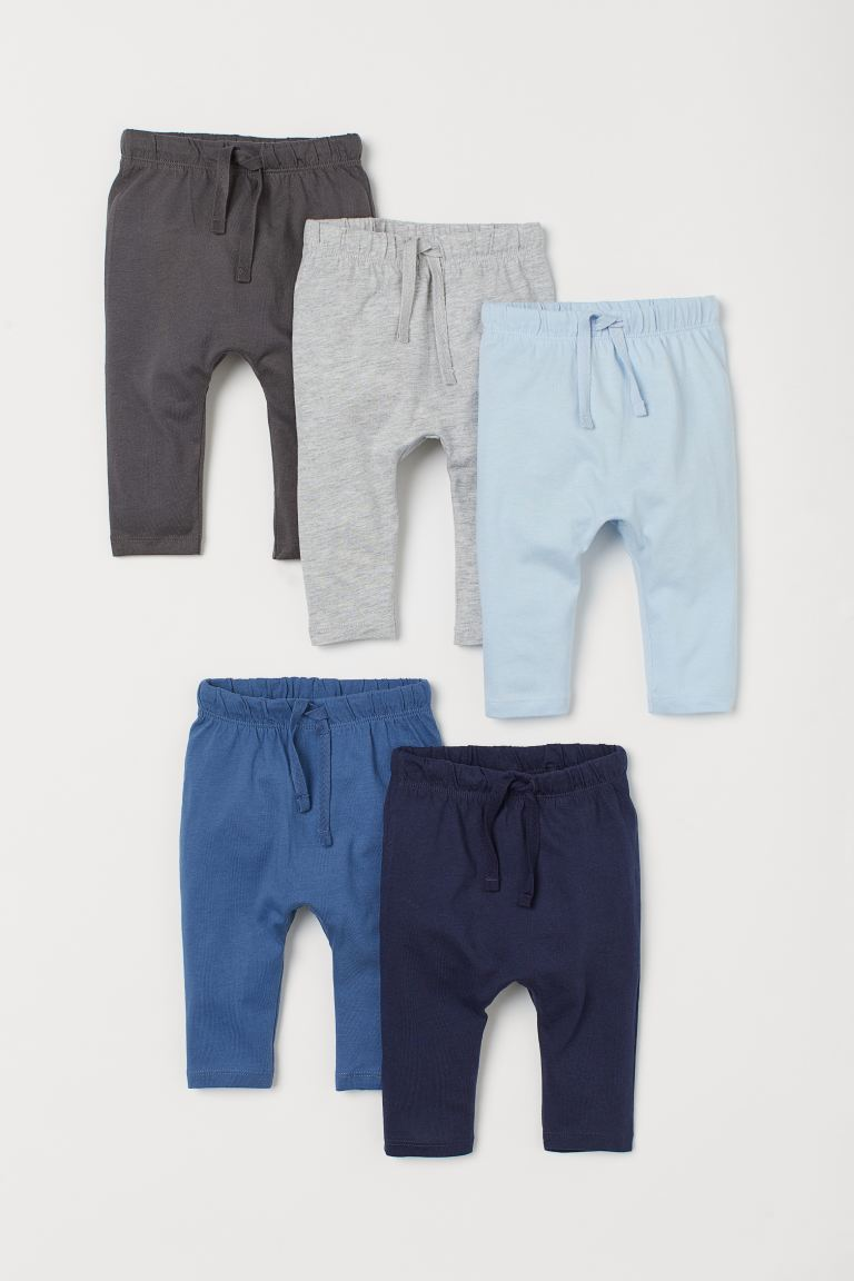 5-pack cotton trousers - Blue - Kids | H&M