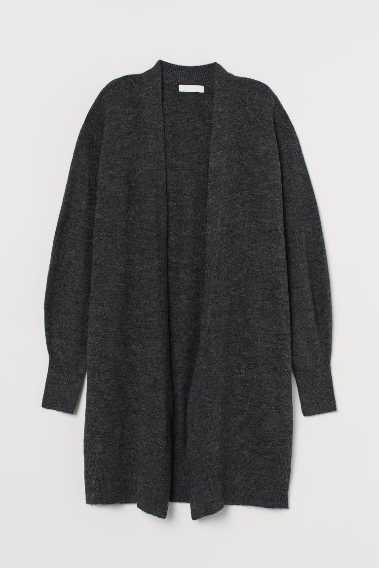 Langer Cardigan - Dunkelgraumeliert - Ladies | H&M AT