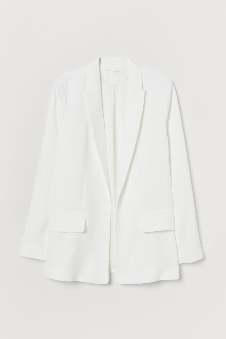 Long Jacket - White - Ladies | H&M US