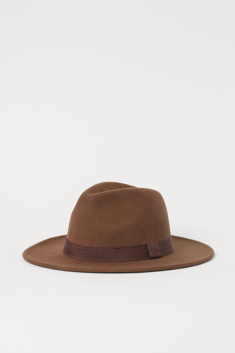 Felted Wool Hat - Brown - Ladies | H&M US