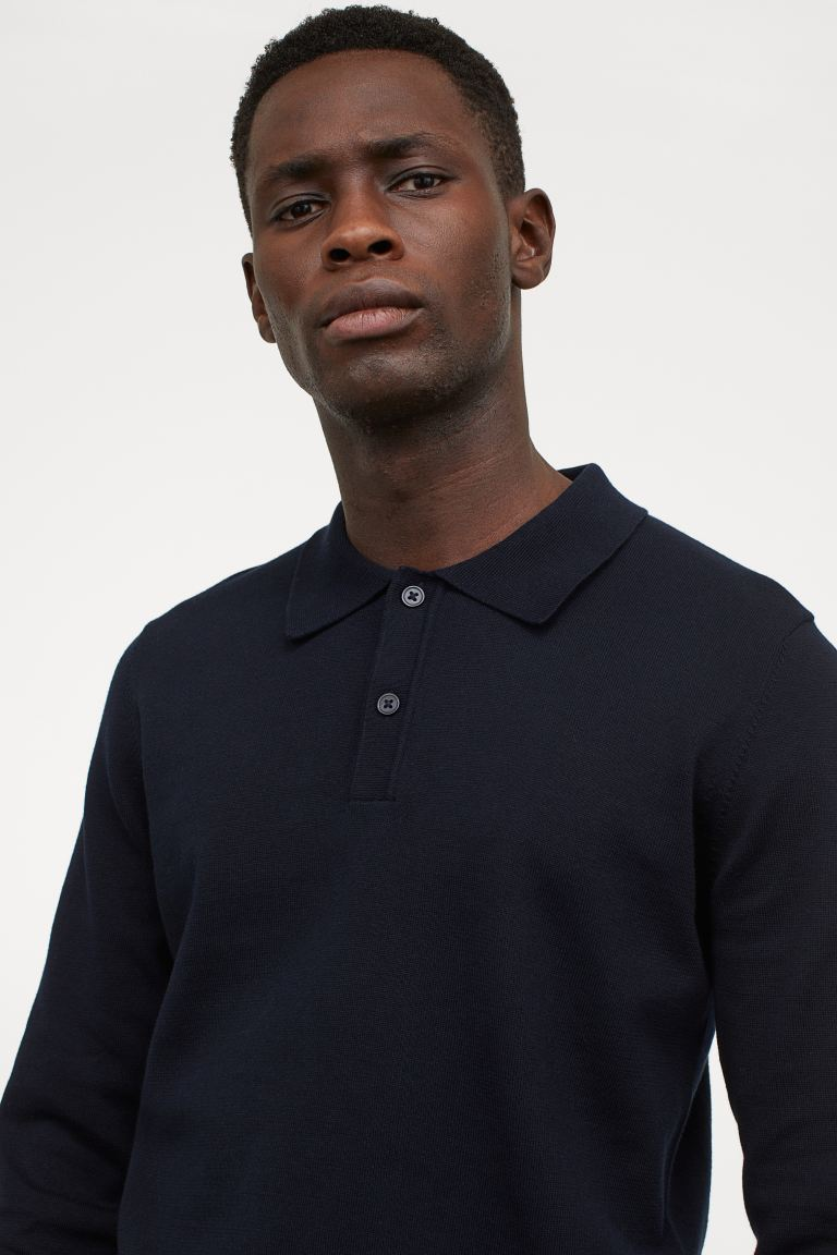 Polo in cotone - Blu navy - UOMO | H&M IT