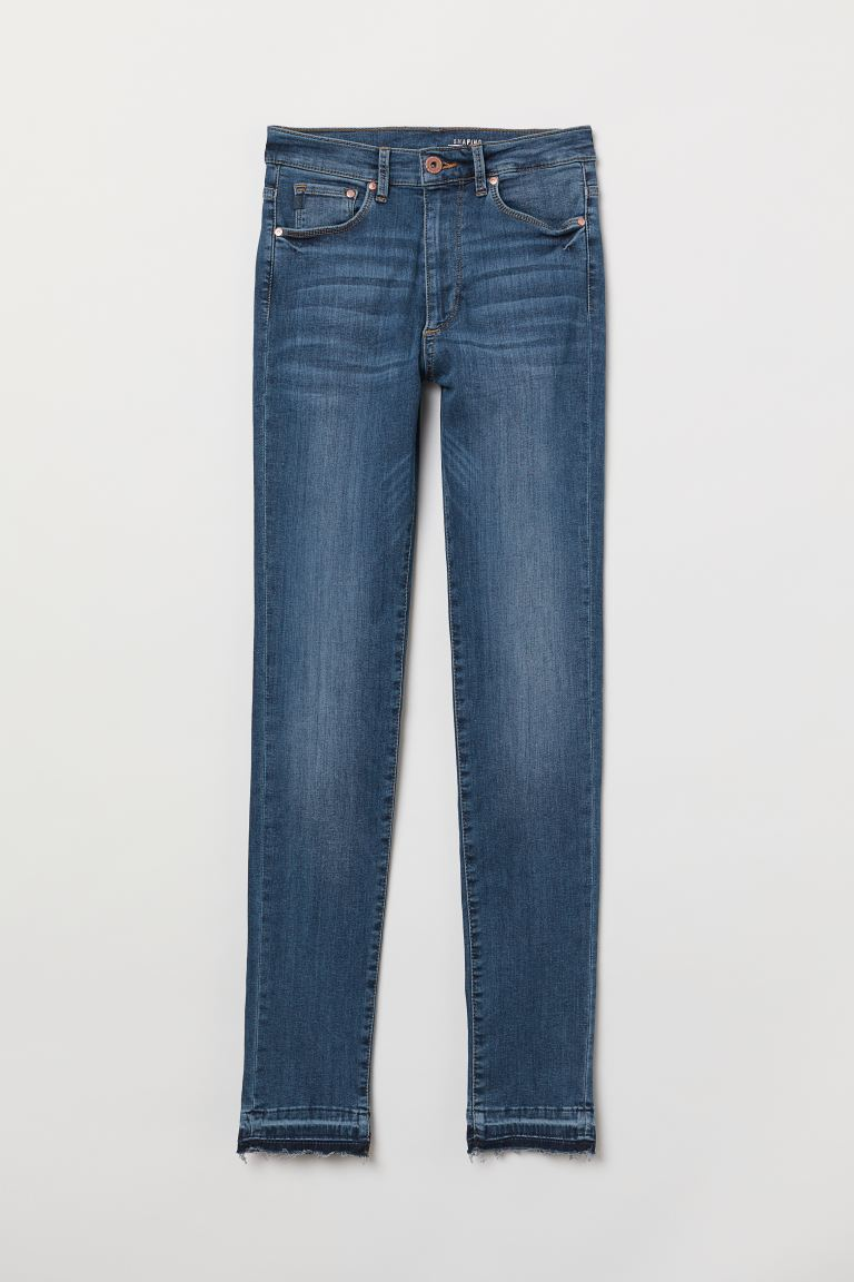 Shaping Skinny High Jeans - Dark denim blue - Ladies | H&M US