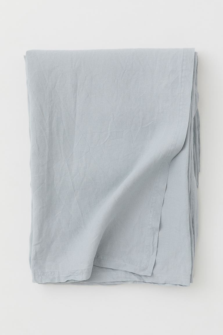Washed Linen Tablecloth - Light turquoise - Home All | H&M US