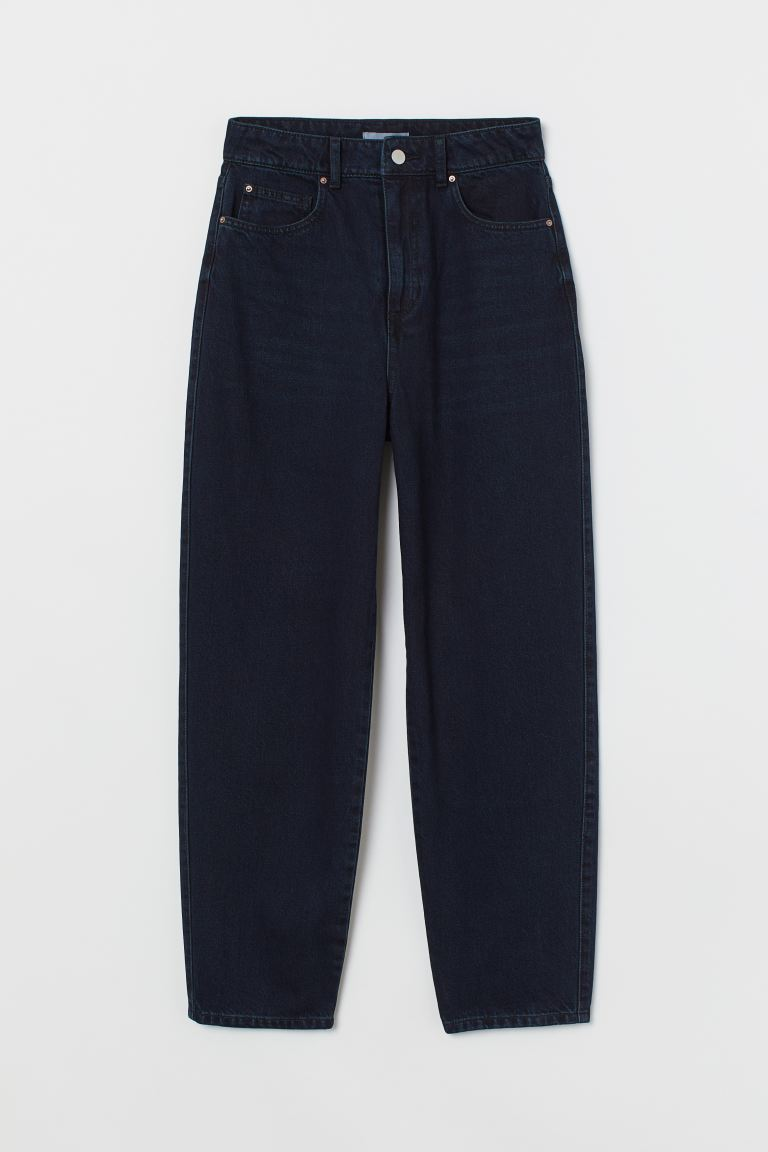 Mom High Ankle Jeans - Kékesfekete - NŐI | H&M HU
