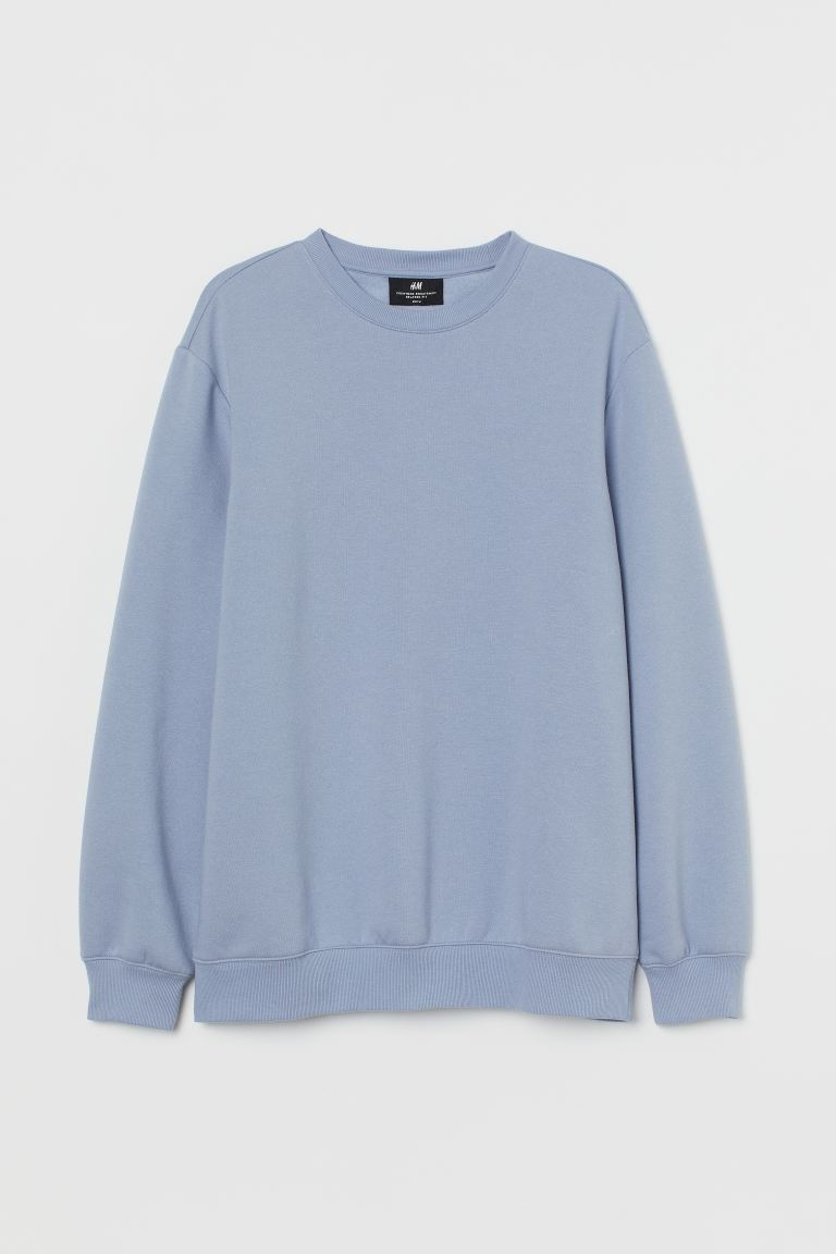 Sweatshirt Relaxed Fit - Light pigeon blue - Men | H&M