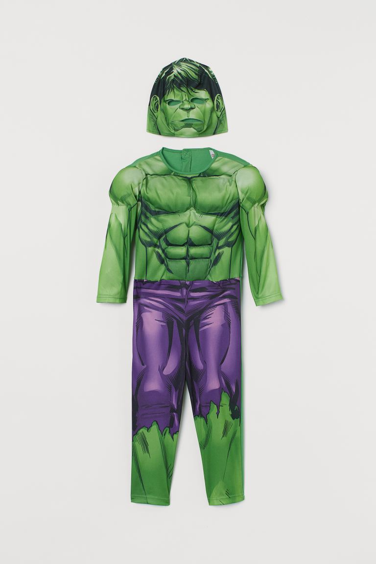 Superhero Costume - Green/Hulk - Kids | H&M US