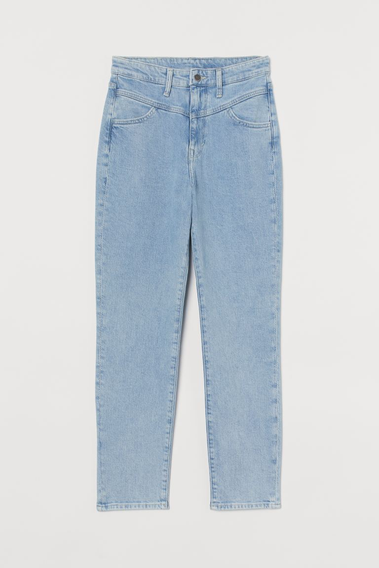 Mom Ultra High Ankle Jeans - Light denim blue - Ladies | H&M GB