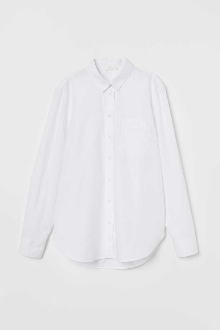 Cotton Shirt - White - Ladies | H&M US