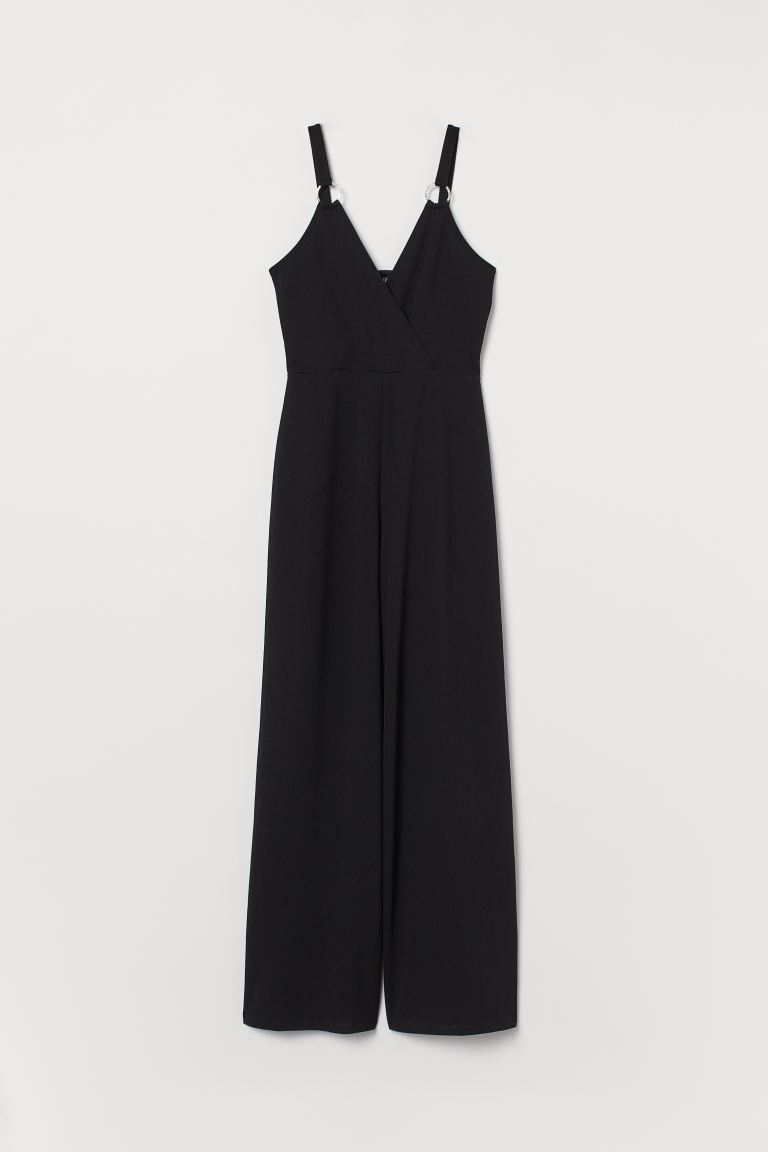 Jumpsuit with sparkly stones - Black - Ladies | H&M GB