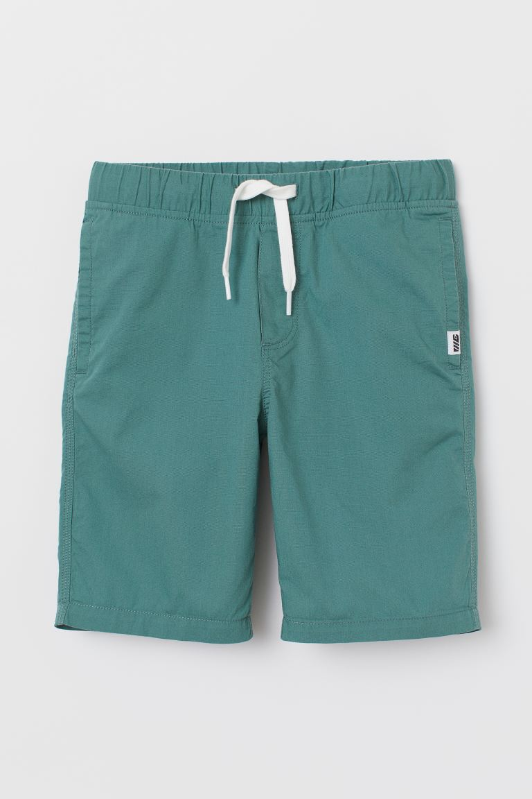 Cotton Shorts - Teal - Kids | H&M CA