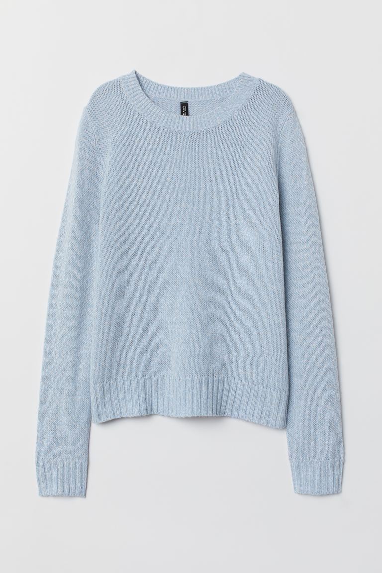 Knit Sweater - Light blue melange - Ladies | H&M US