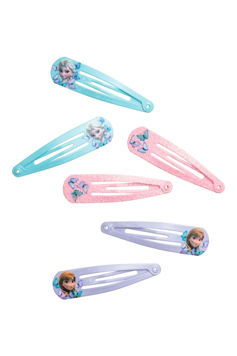 6-pack hair clips - Pink/Frozen - Kids | H&M GB