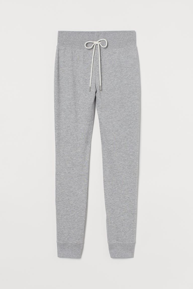 Cotton-blend joggers - Light grey marl - Ladies | H&M