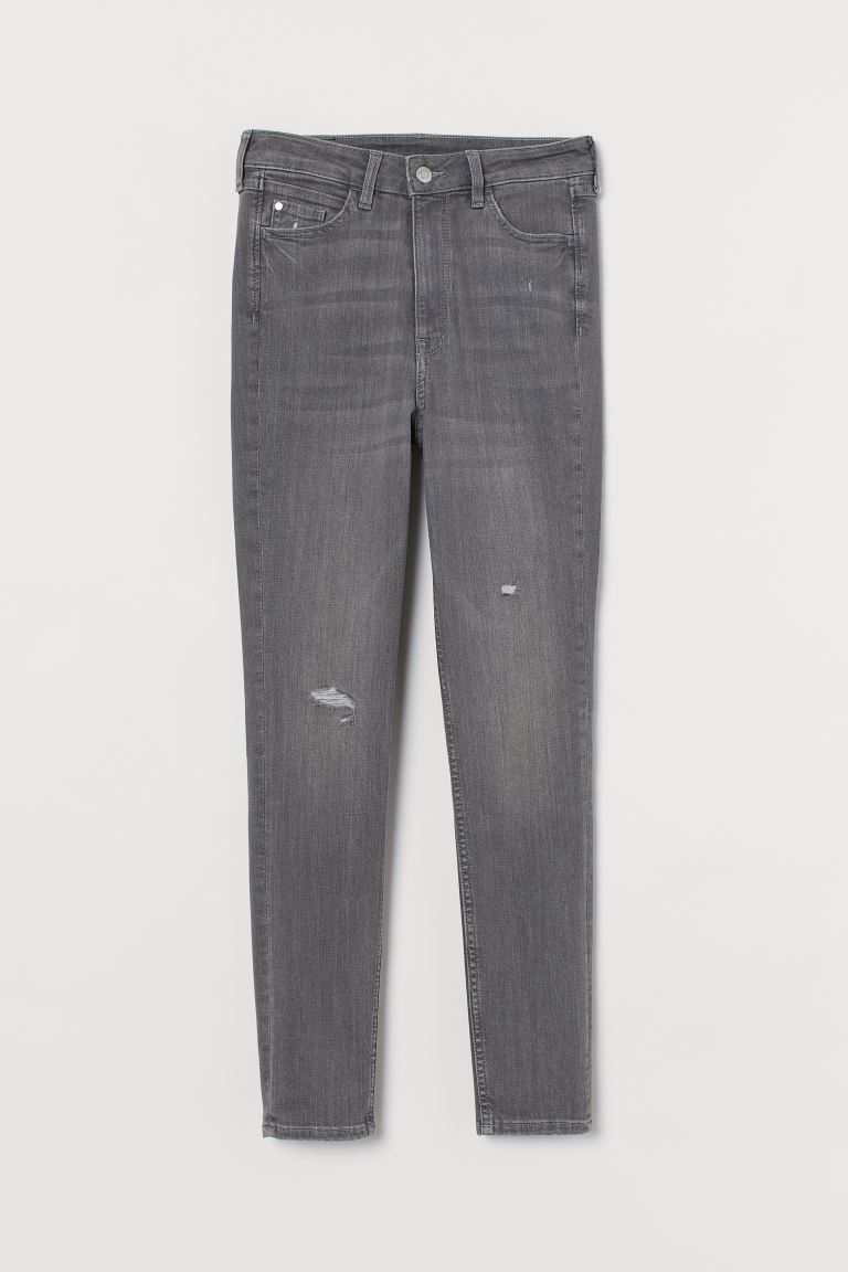 Jeans Super Skinny High Ankle - Denim gris claro - Ladies | H&M US