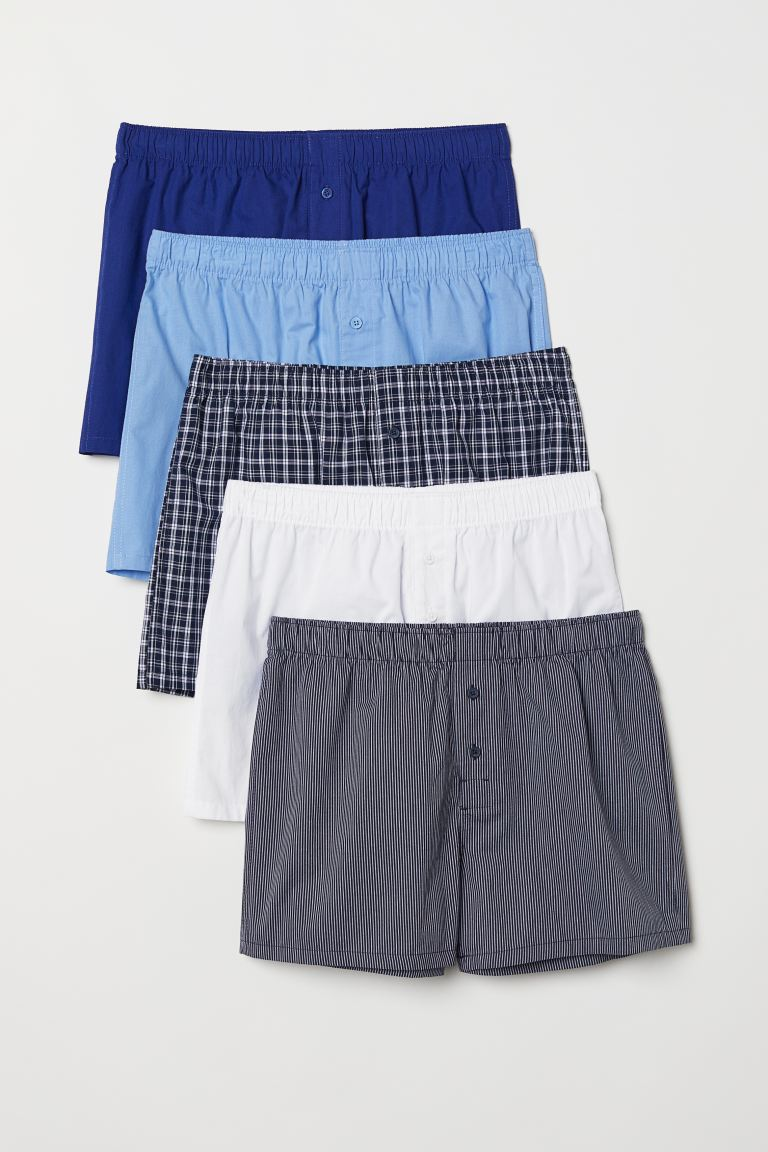 5-pack Woven Boxer Shorts - Dark blue/multicolored - Men | H&M CA