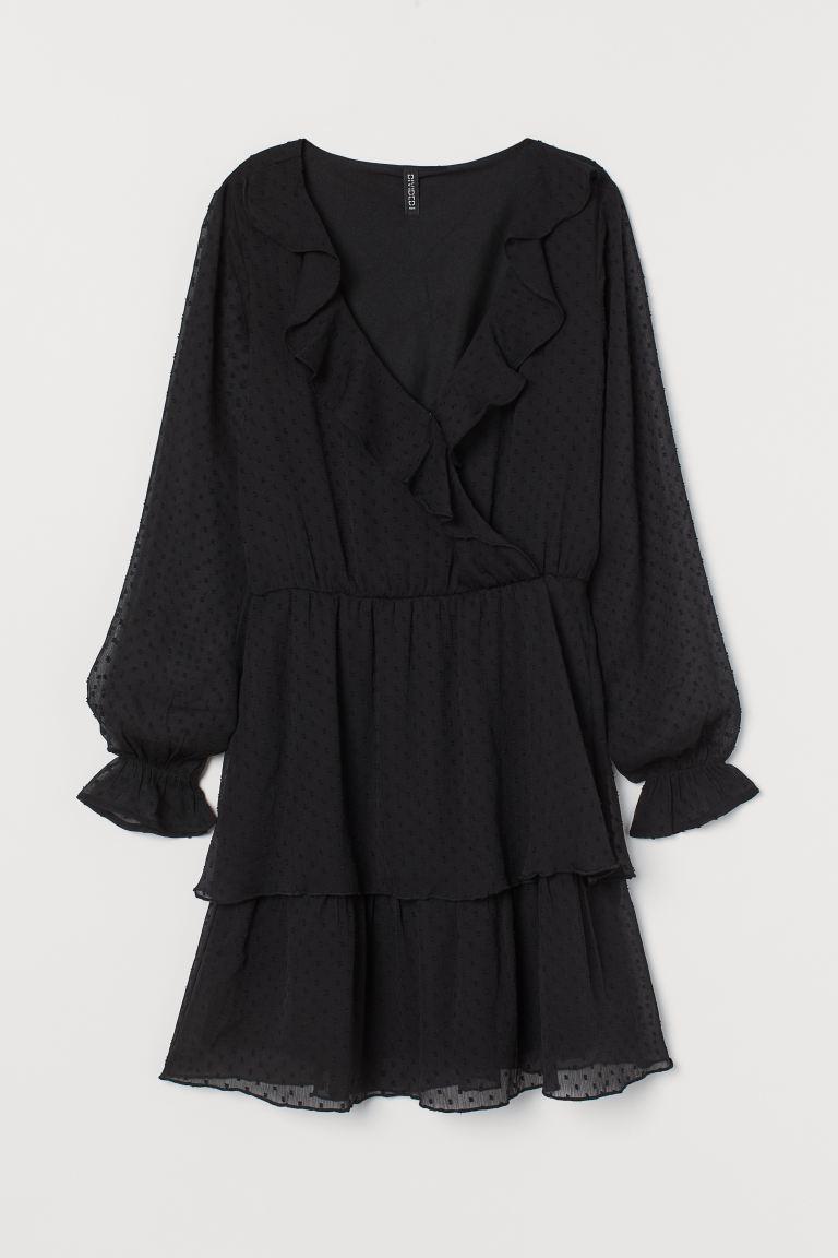 Kleid aus Plumetis-Chiffon