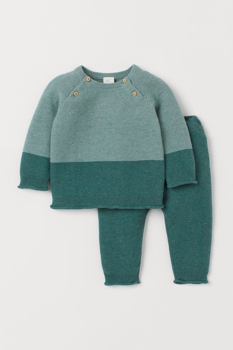 Jumper and trousers - Dusky green - Kids | H&M GB