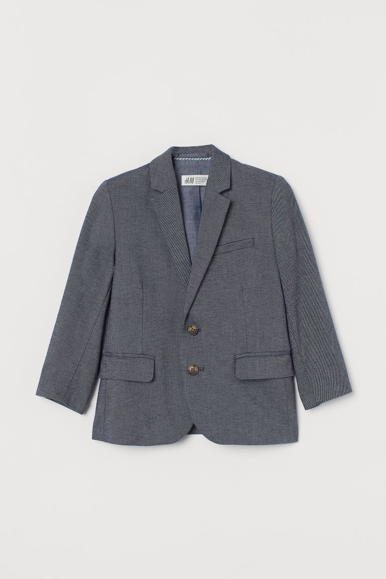Classic Blazer - Dark blue/chambray - Kids | H&M US
