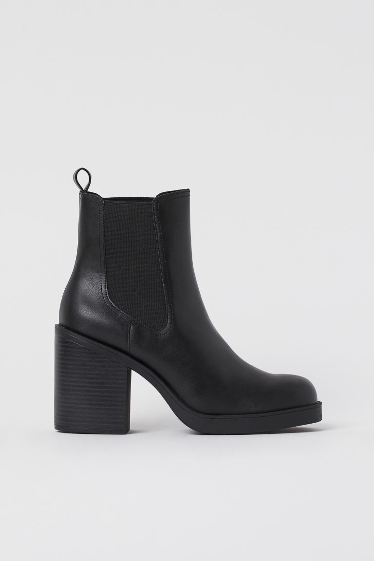 Ankle boots - Black/Elastic - Ladies | H&M