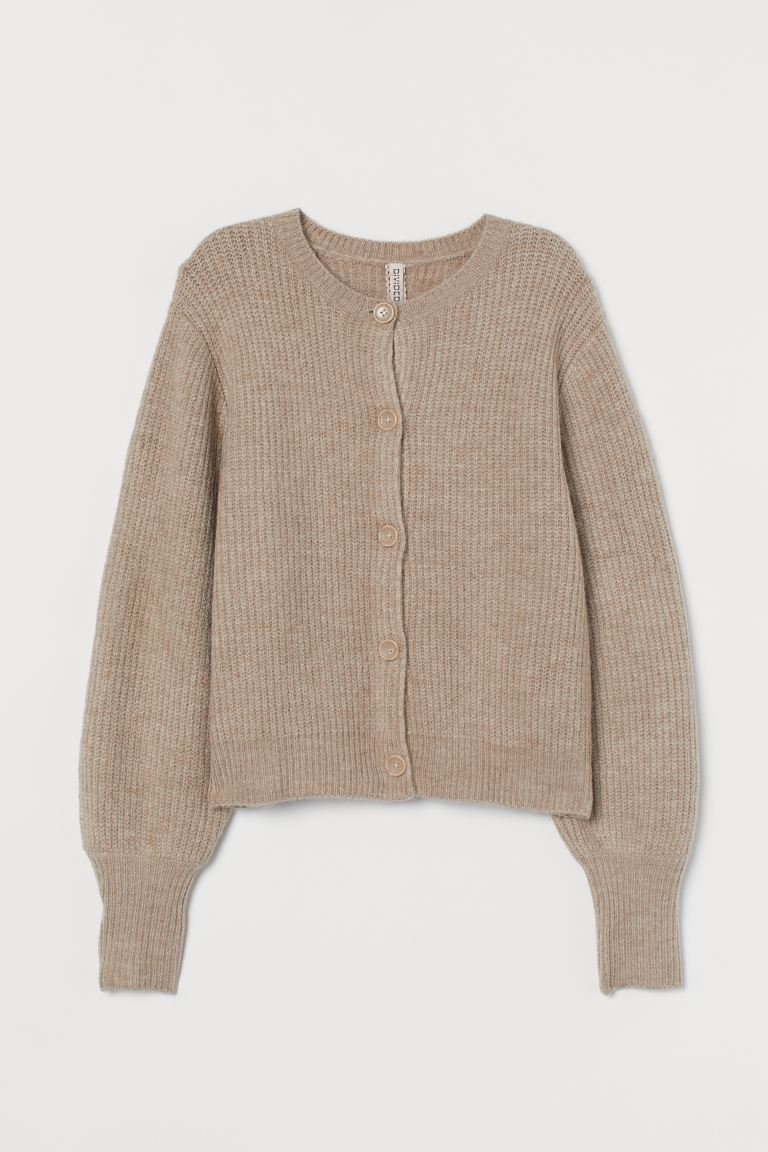 Rib-knit Cardigan - Beige - Ladies | H&M US