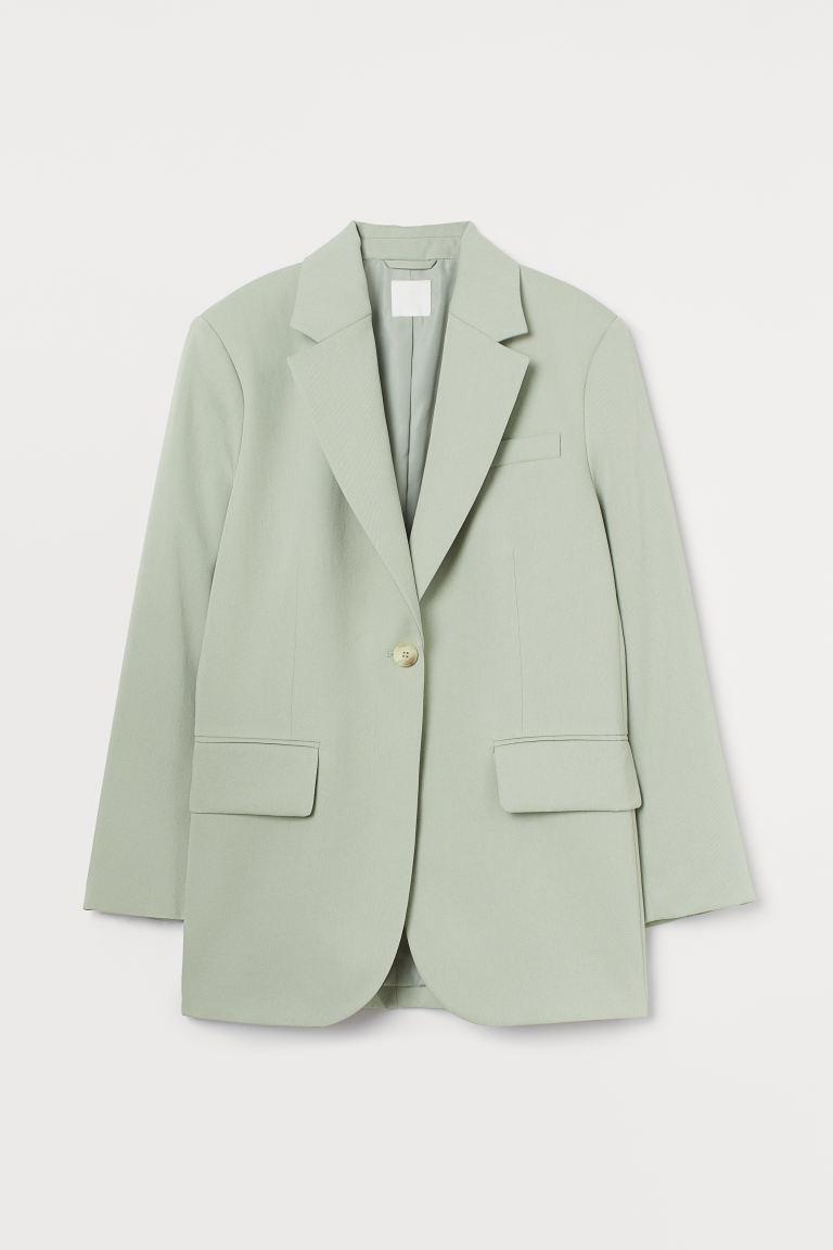 Oversized blazer - Sage green - Ladies | H&M GB