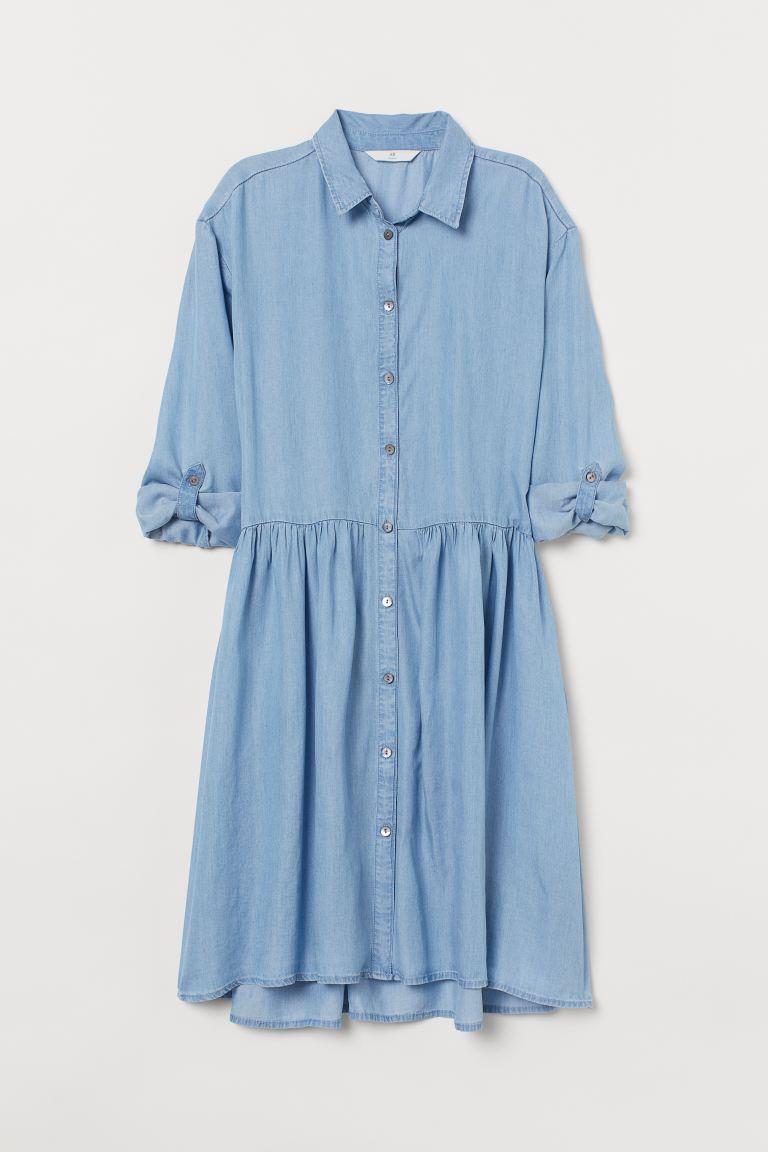サステナブルな商品「H&M」の「リヨセルシャツドレス」
