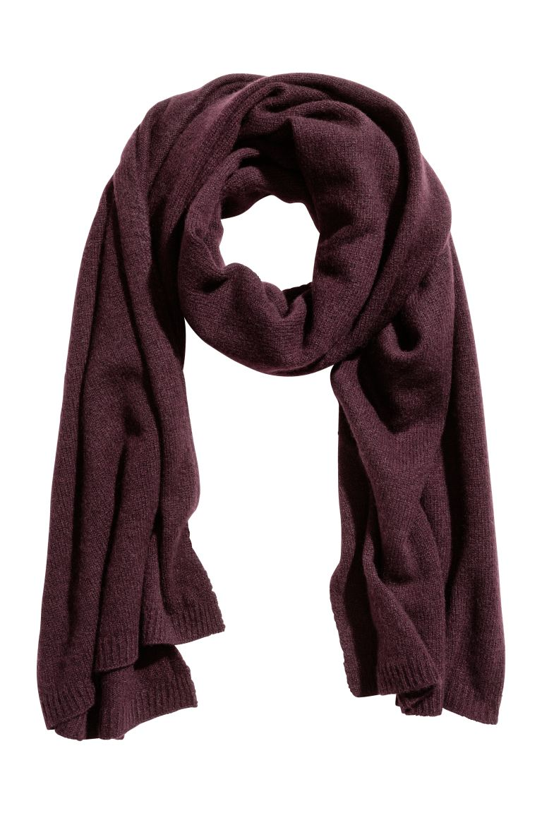 Cashmere scarf - Plum - Ladies | H&M GB