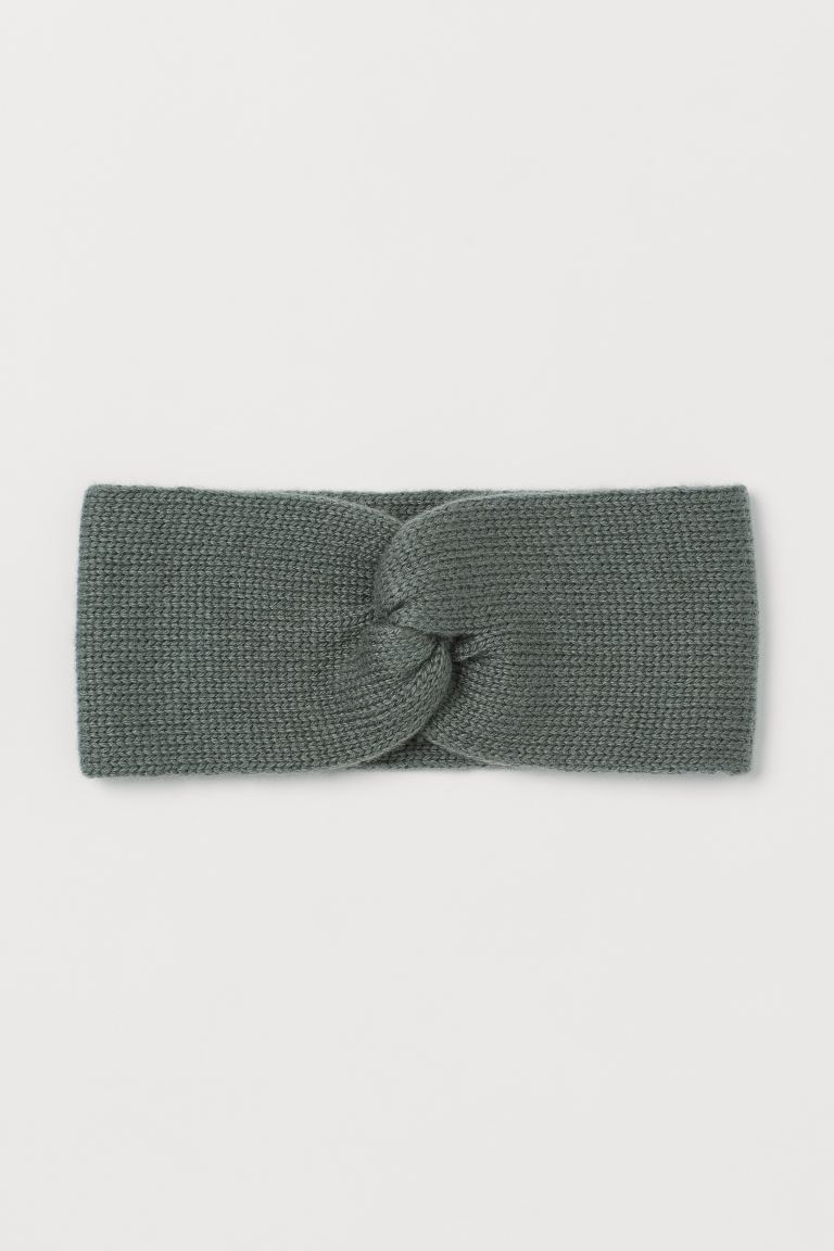 Knitted headband - Sage green - Ladies | H&M IE
