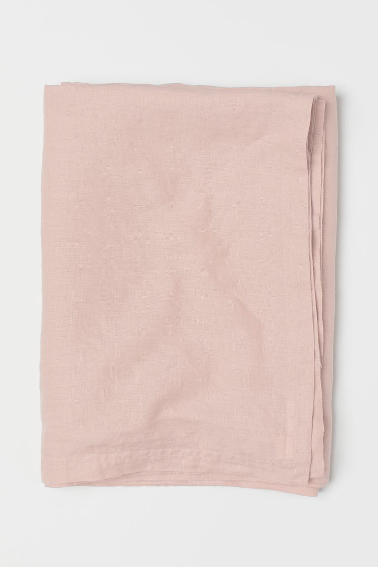 Nappe en lin lavé - Rose clair - Home All | H&M CA