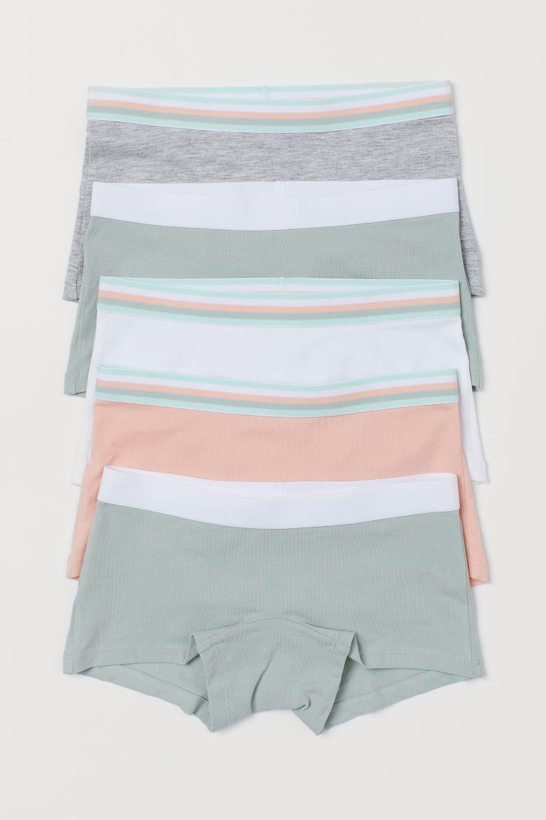 5-pack cotton boxer briefs - Light green/Apricot - Kids | H&M