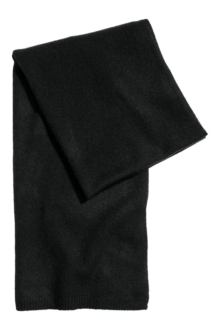 Cashmere scarf - Black - Ladies | H&M GB