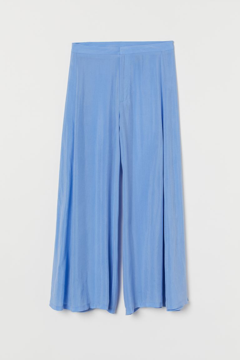 Extra-wide-leg Culottes - Light blue - Ladies | H&M US