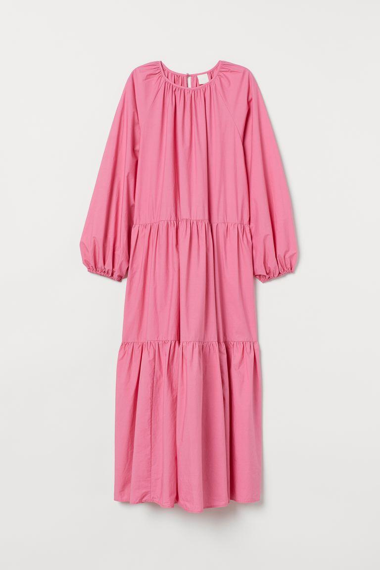 Balloon sleeved dress