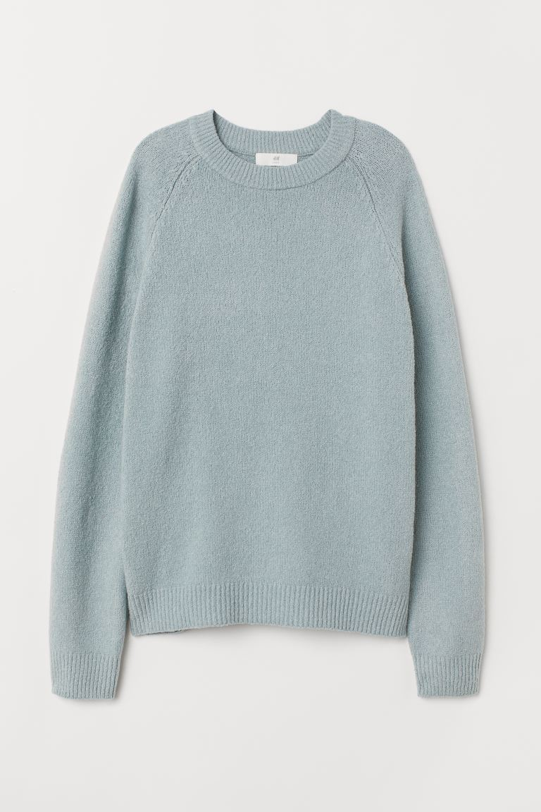 Fine-knit jumper - Light turquoise - Ladies | H&M GB
