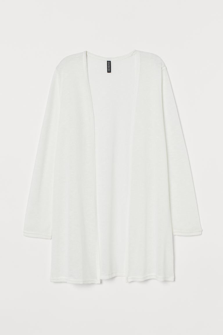 Cardigan a punto largo - Bianco - DONNA | H&M IT