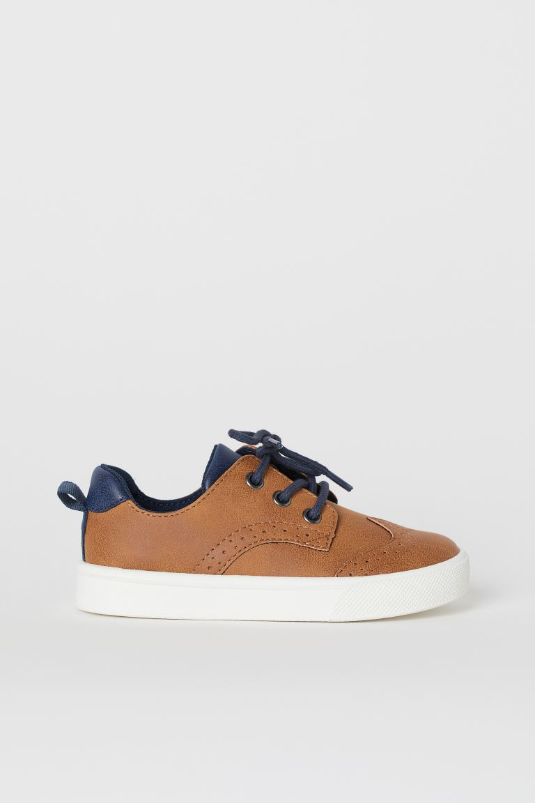 Brogue-patterned Sneakers - Light brown - Kids | H&M US