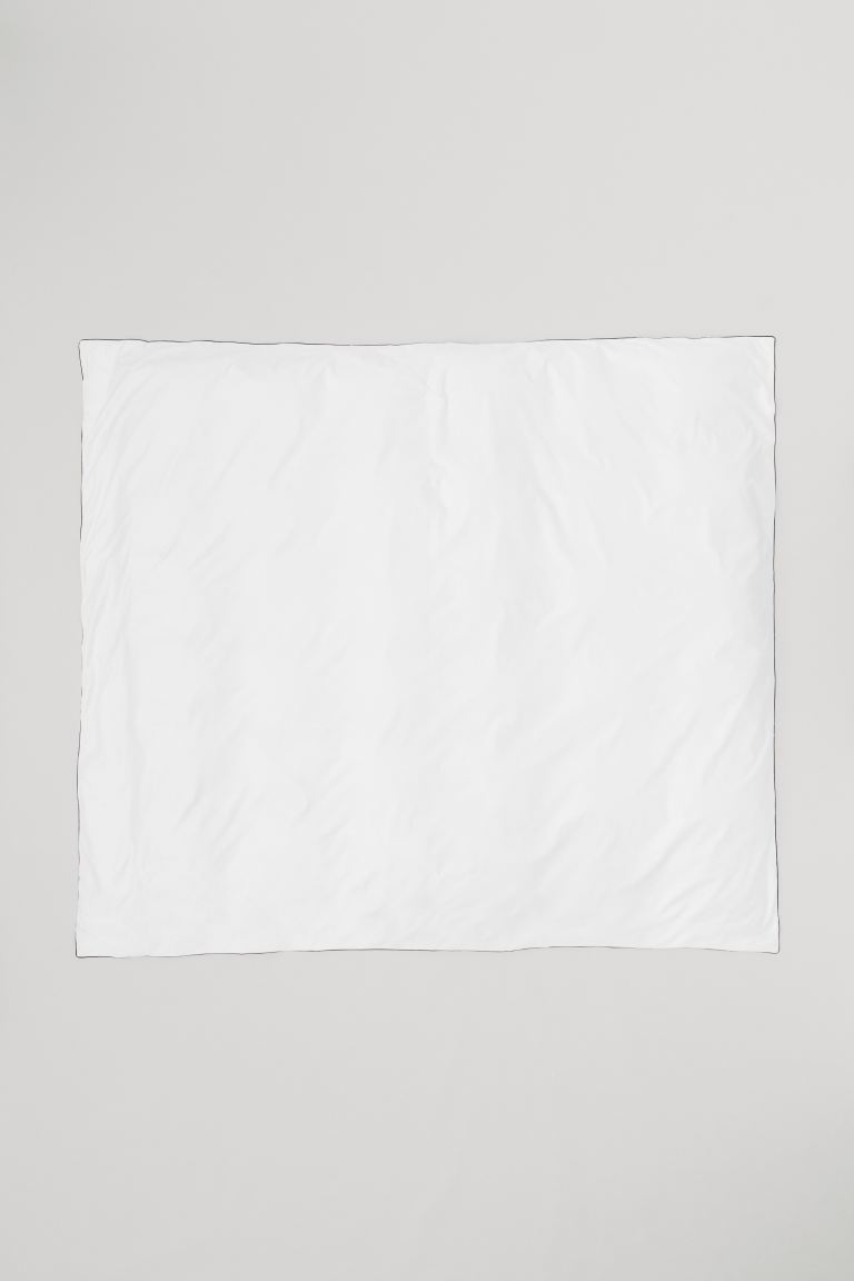 Housse de couette en satin - Blanc - Home All | H&M CA