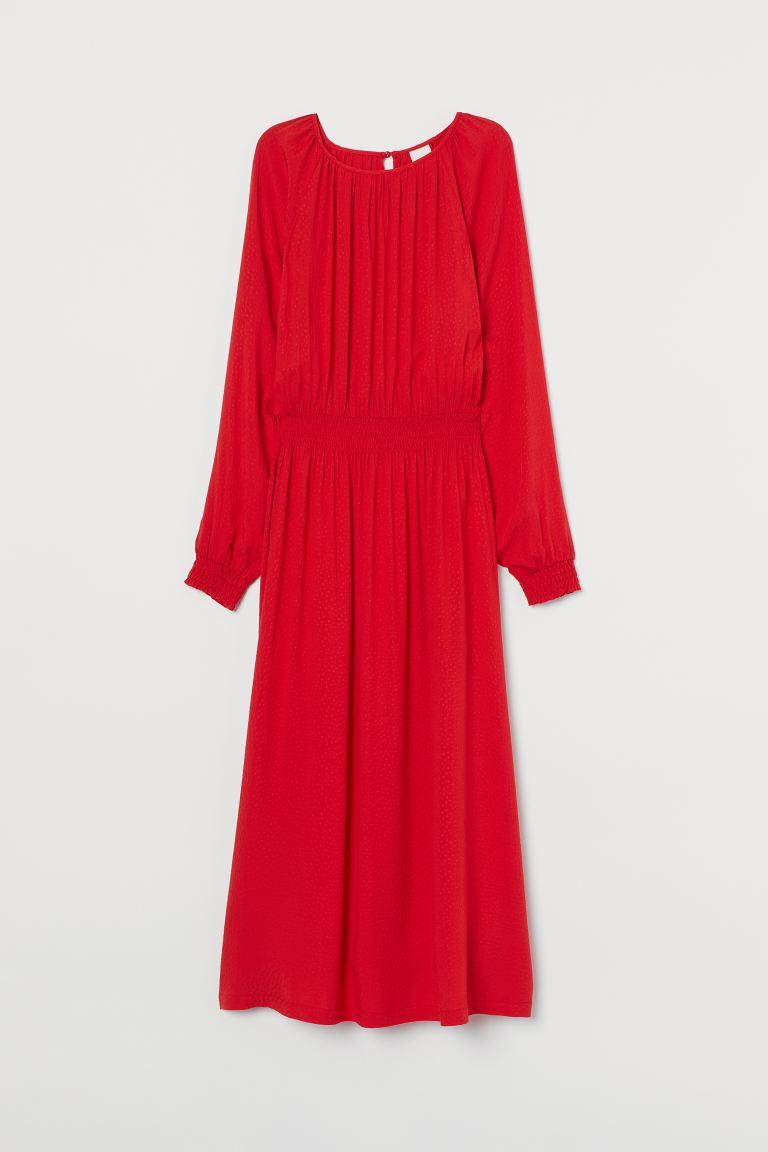 klänning med smock