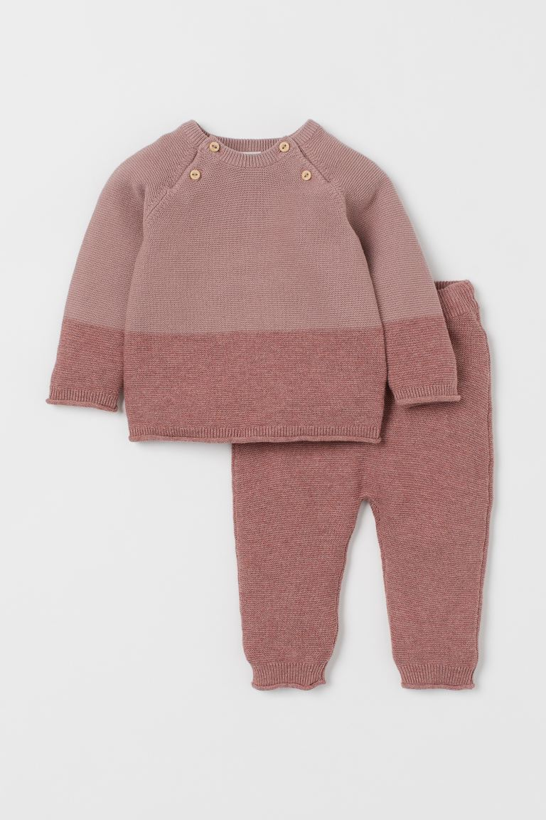 Jumper and trousers - Old rose - Kids | H&M