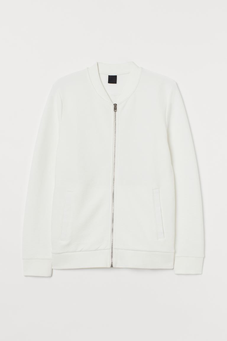 Zipped cardigan - White - Men | H&M