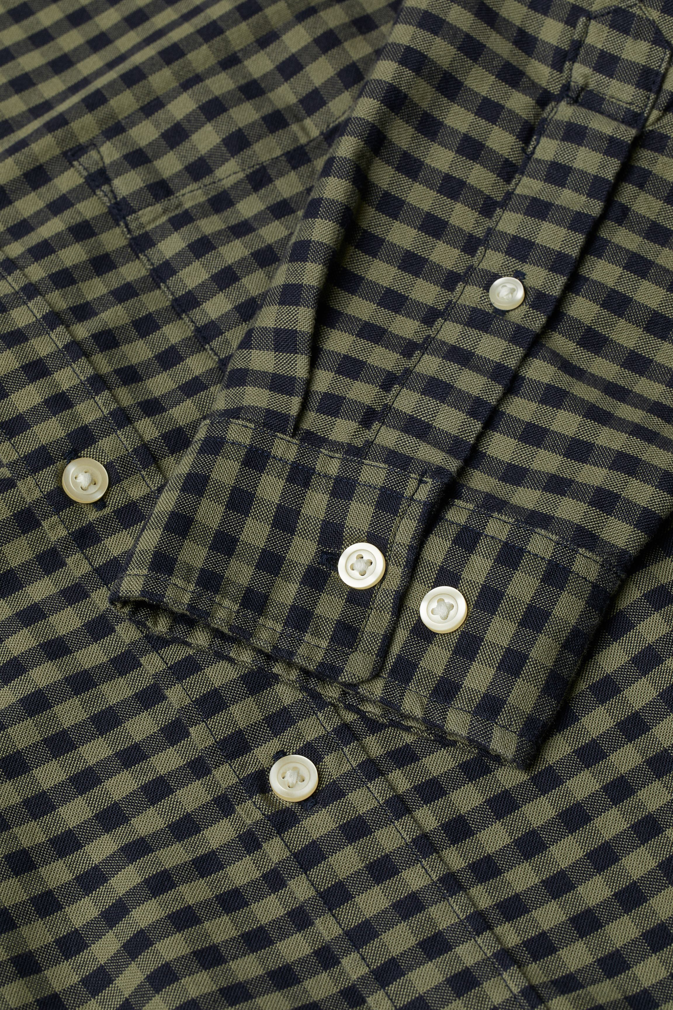 Gingham-checked Oxford Shirt