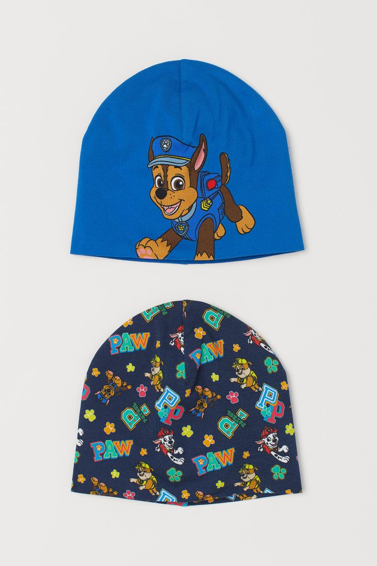 2-pack Jersey Hats - Blue/Paw Patrol - Kids | H&M CA