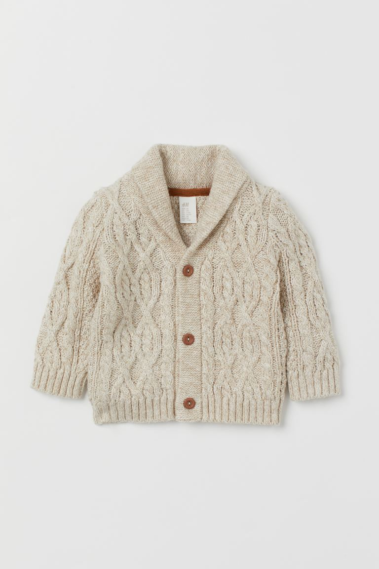 Cable-knit Cardigan - Light beige - Kids | H&M US