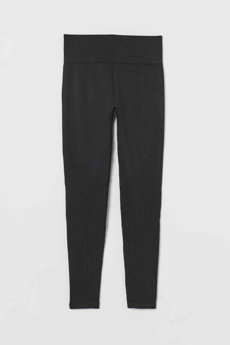 Seamless Sports Leggings - Black - Ladies | H&M US