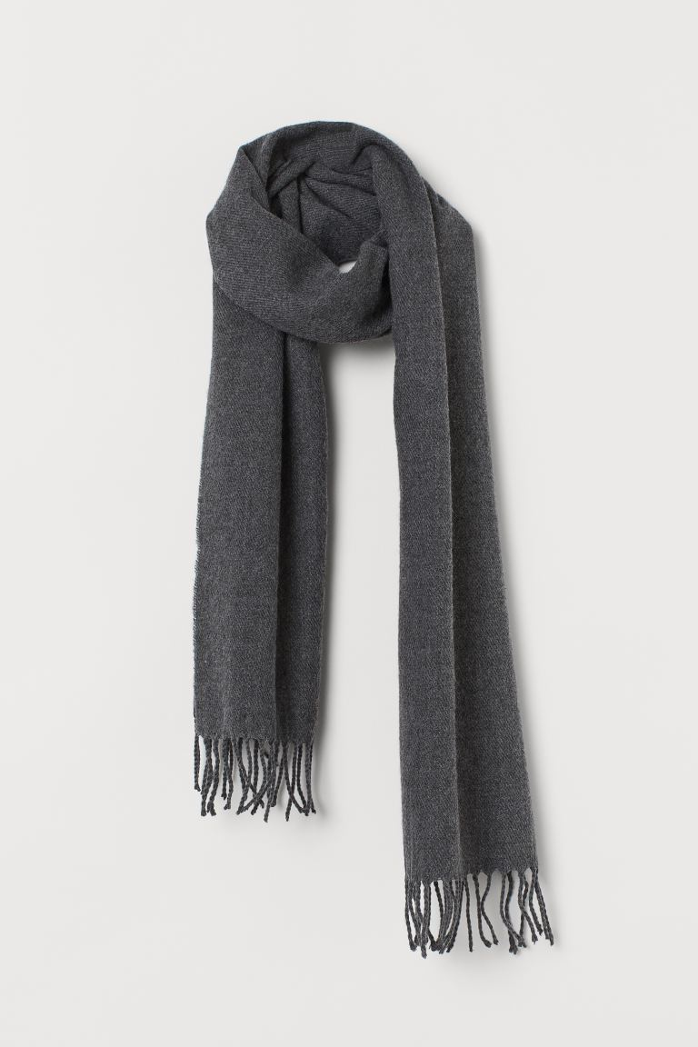 Woven scarf - Dark grey marl - Men | H&M GB