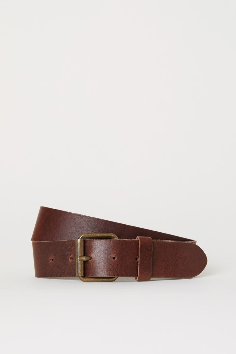 Leather belt - Cognac brown - Men | H&M