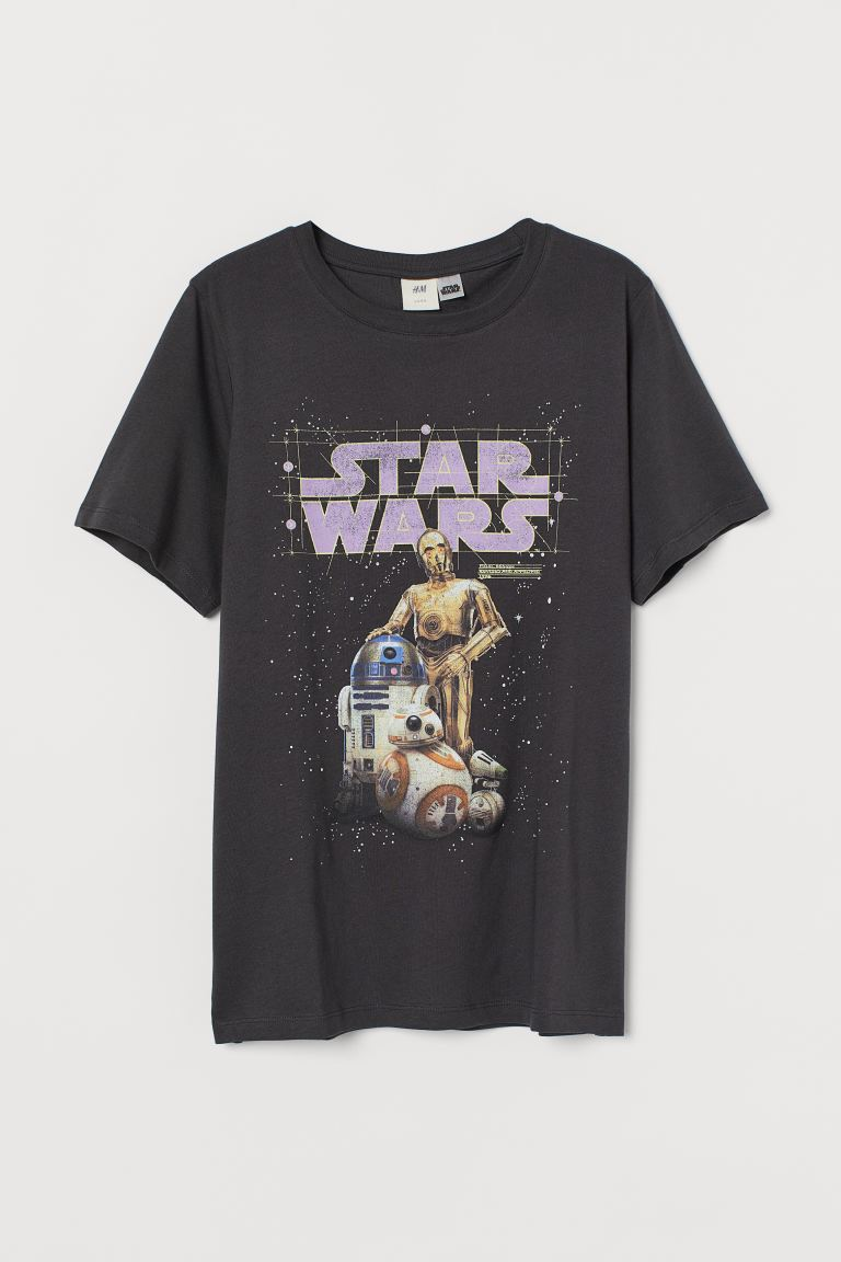 Playera con diseño - Gris oscuro/Star Wars - Ladies | H&M MX