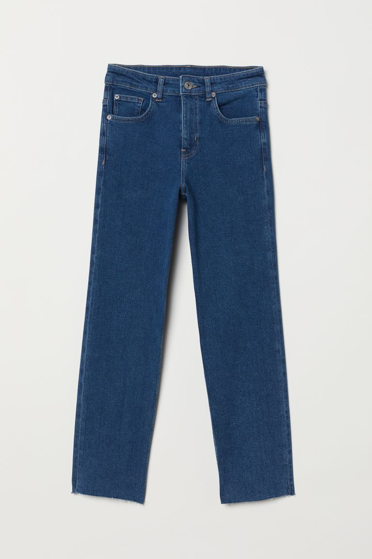 Straight High Ankle Jeans - Azul denim - MUJER | H&M ES